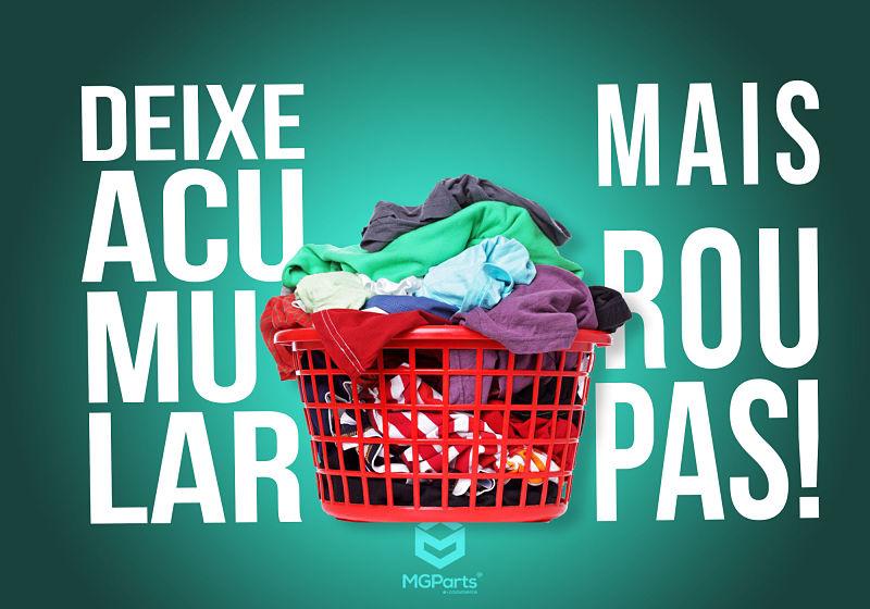 deixe acumular roupas