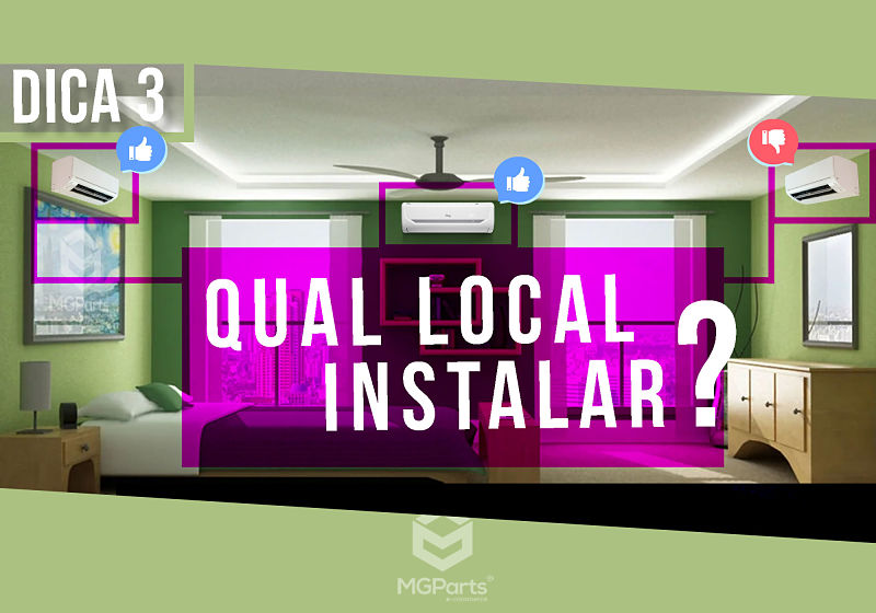 qual local instalar o ar condicionado
