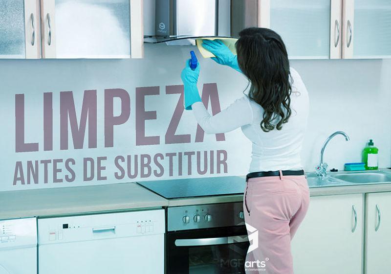 limpeza antes de substituir
