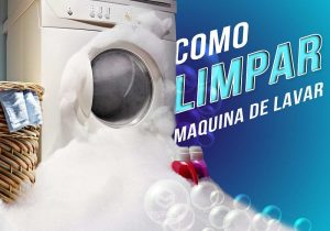 como limpar maquina de lavar