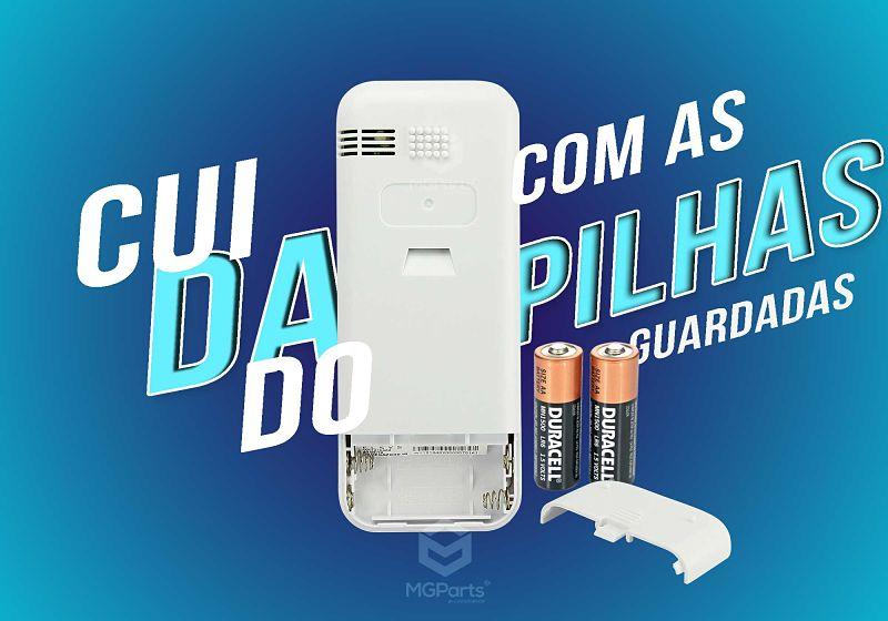 cuidados com as pilhas do controle de ar condicionado