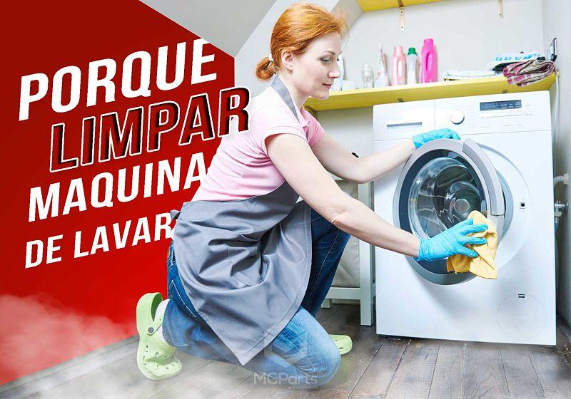 porque limpar maquina de lavar