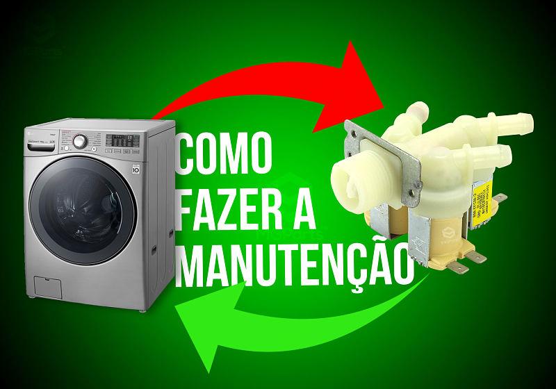 manutenção da válvula da lavadora