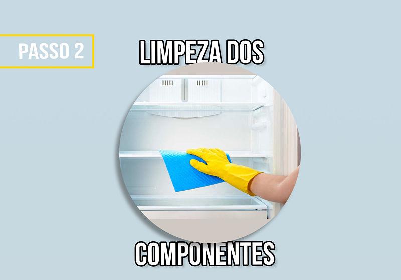 passo 2 limpeza dos componentes
