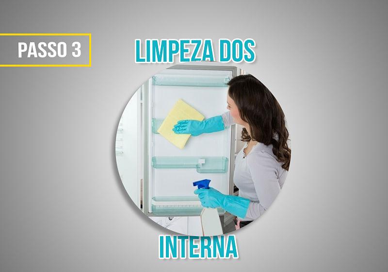 passo 3 limpeza interna da geladeira