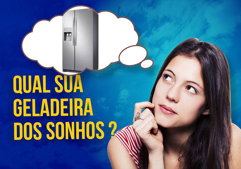 pessoa sonhando com geladeira
