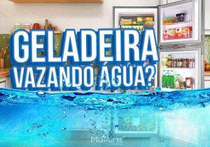 geladeira vazando água