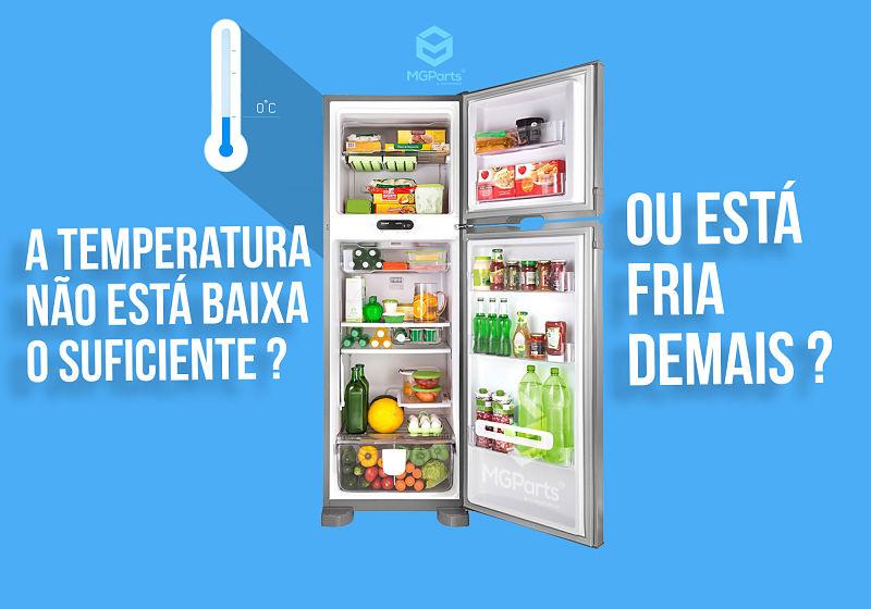 temperatura alta demais da geladeira