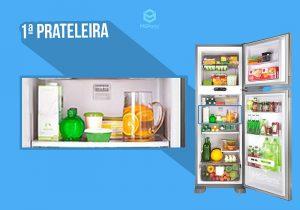 O que guardar na primeira prateleira da geladeira