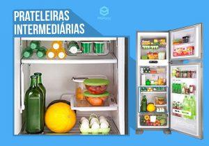 O que colocar na prateleira intermediária da geladeira