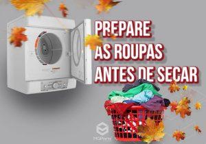 Como preparar as roupas para secadora
