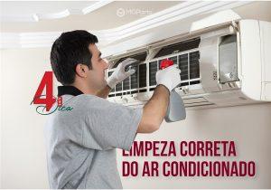 imagem de técnico realizando manutenção de ar condicionado